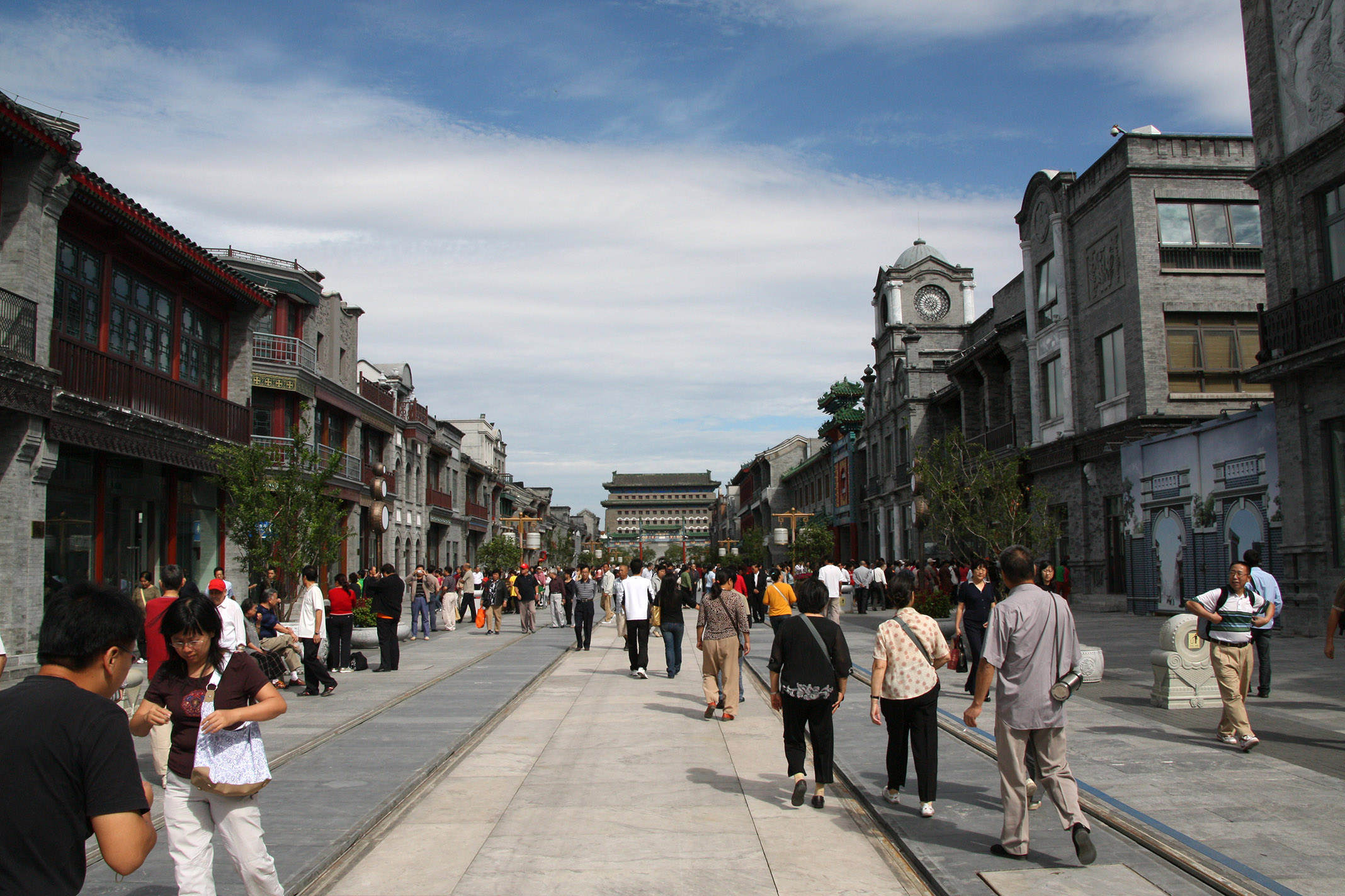 "Qianmen_Street_1.jpg - A street that has been ""redesigned"" for the Olympics."